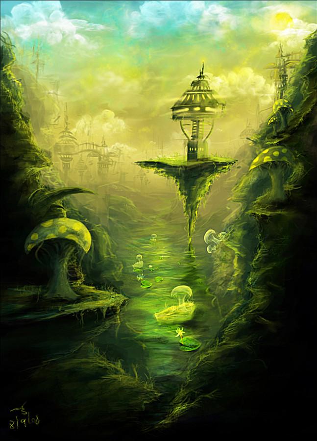 mushroom_factory_digital_painting