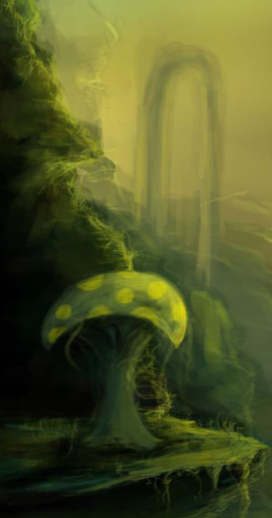 Digital Painting Tutorial mushroom