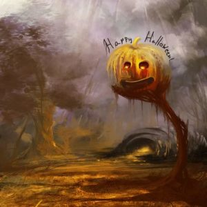 Digital painting tutorial – Happy Halloween