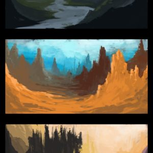 Speed painting tutorial – 3 sketches