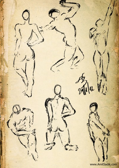 Gesture drawing -- Pencil drawings (1)