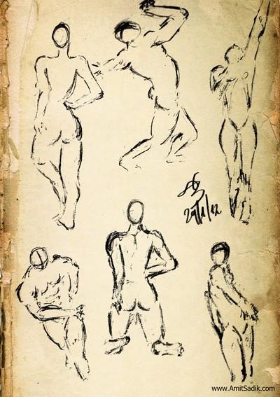 Gesture drawing -- Pencil drawings (1)