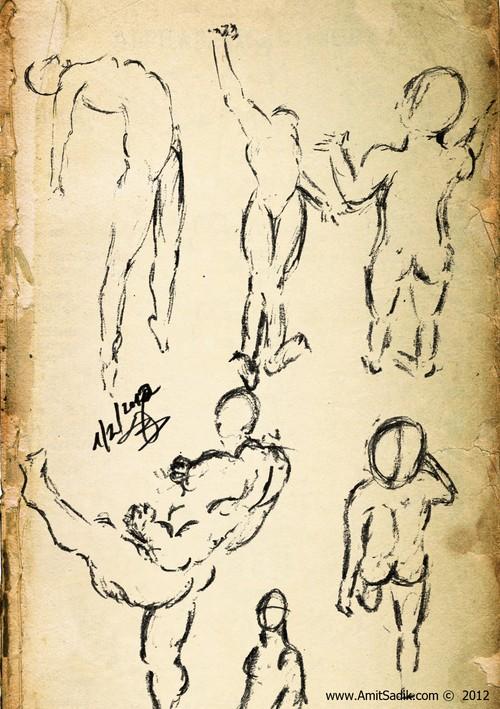 Gesture drawing 2012