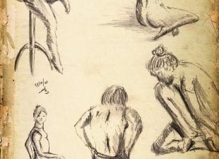 Old gesture drawings