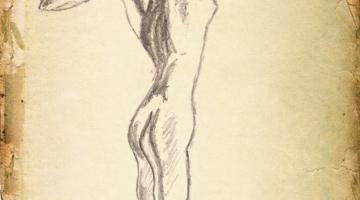 Female pose – gesture drawing