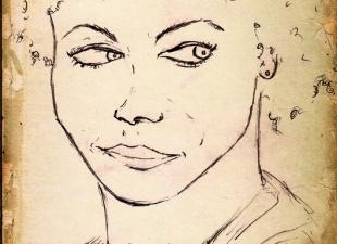 Portrait art – Black magic woman
