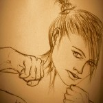 More sketch art - this time, female portrait. I want give the feel of a movement more than a simple portrait. Hope you will like it, comments are welcome :)