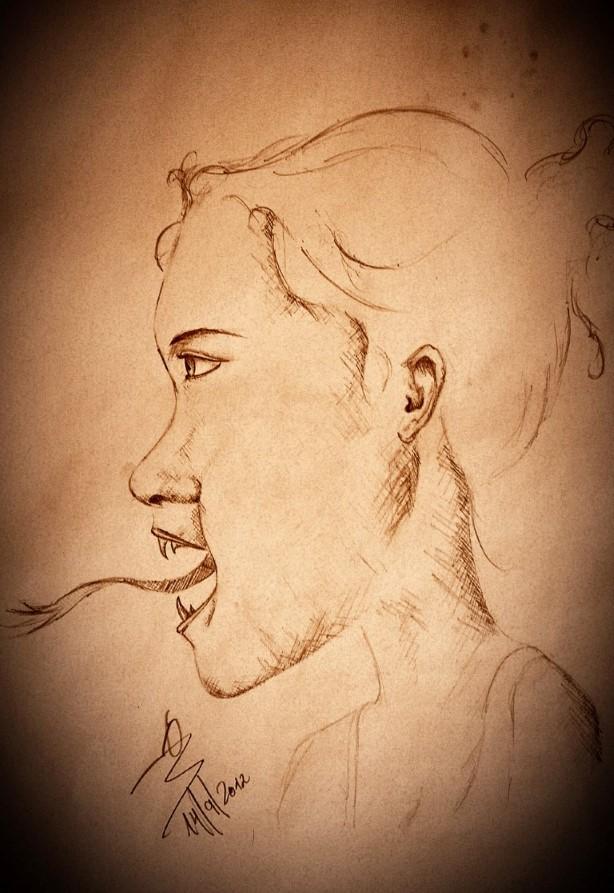 portrait painters pencil drawing