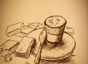 Coffee drawing – Sketch art