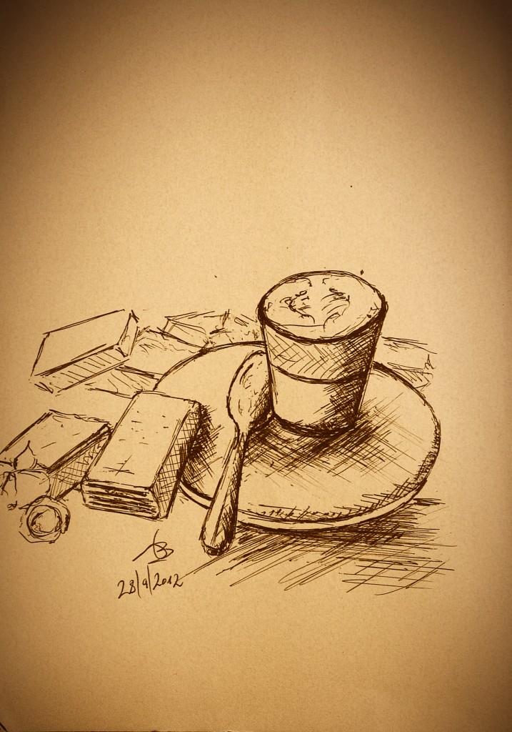 pencil art - coffee drawing