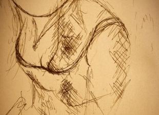 Female drawing