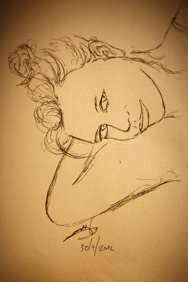 woman drawing