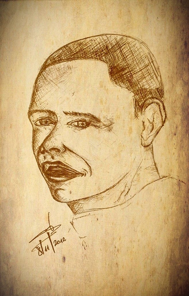 drawing faces - Obama portrait