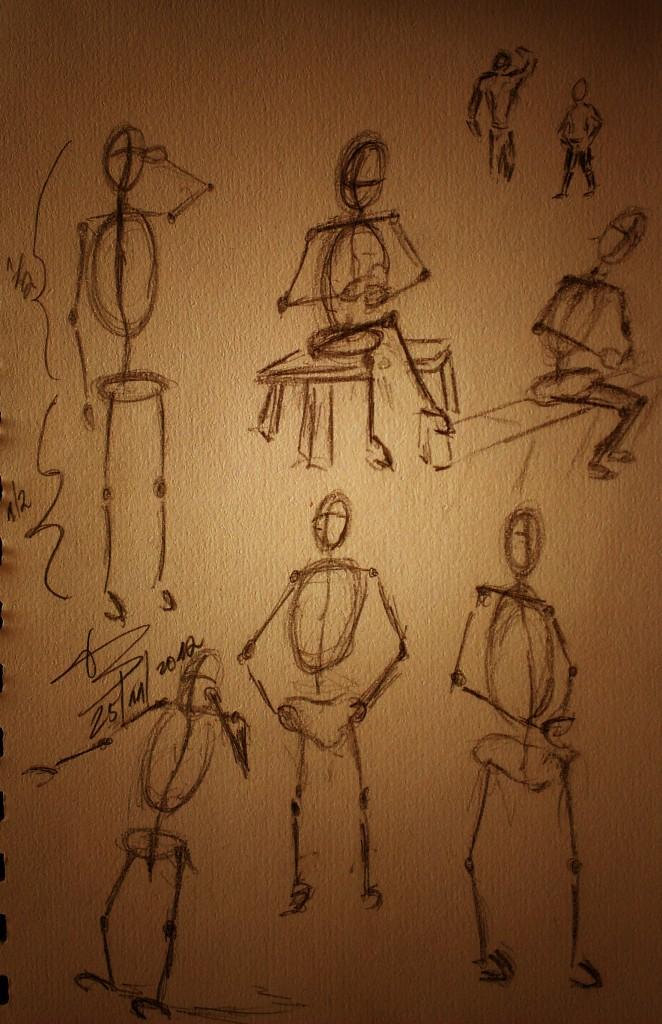 pose drawing