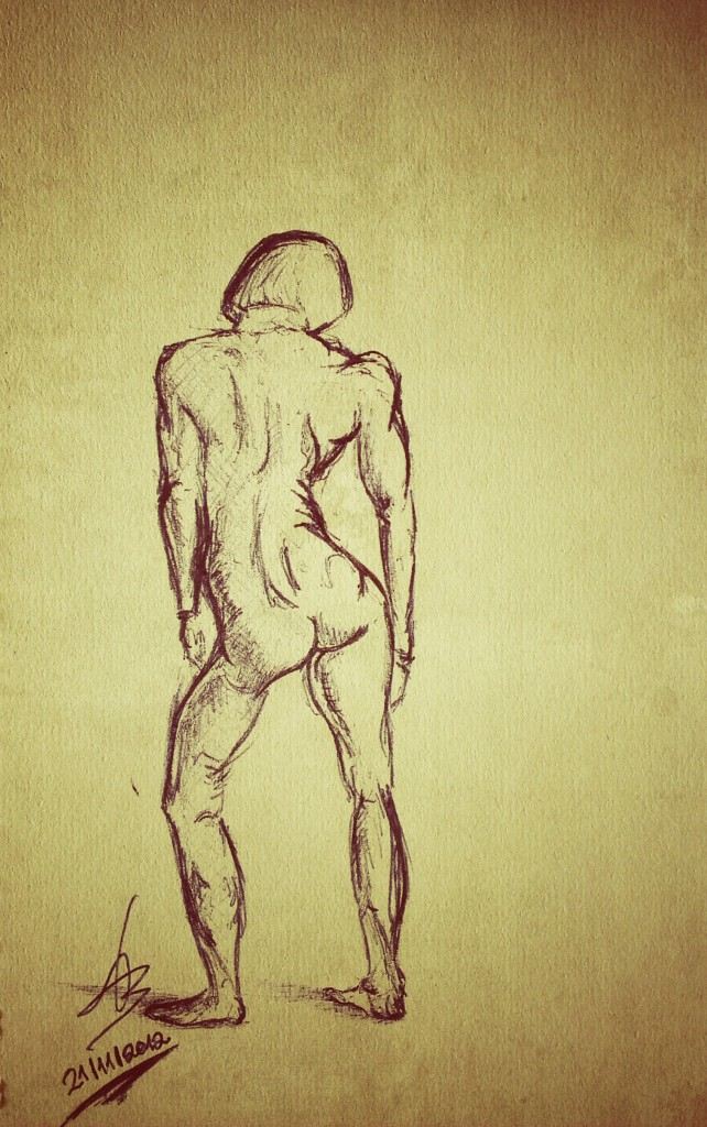 Female gesture drawing