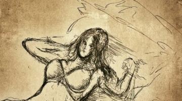 Female pose drawing
