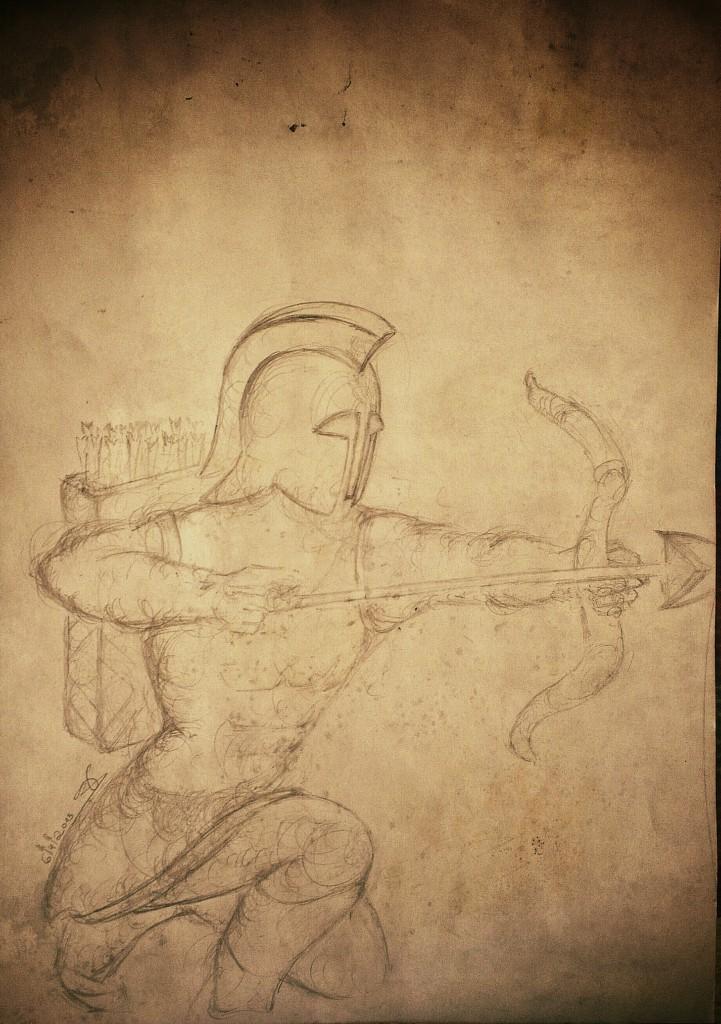 Gladiator drawing