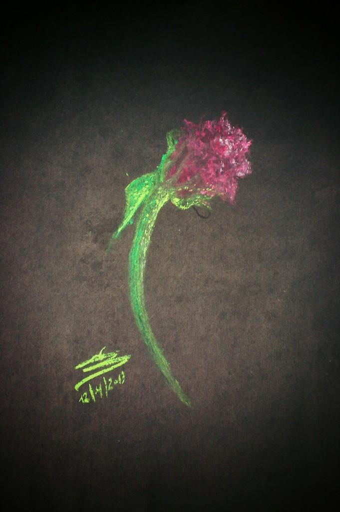 flower pastel painting