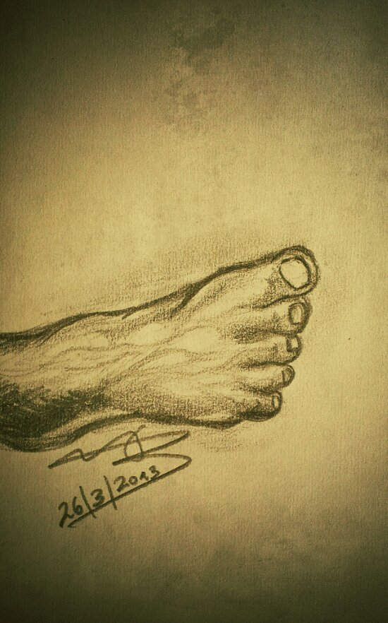 foot drawing