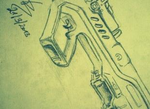 Tavor – Rifle drawing