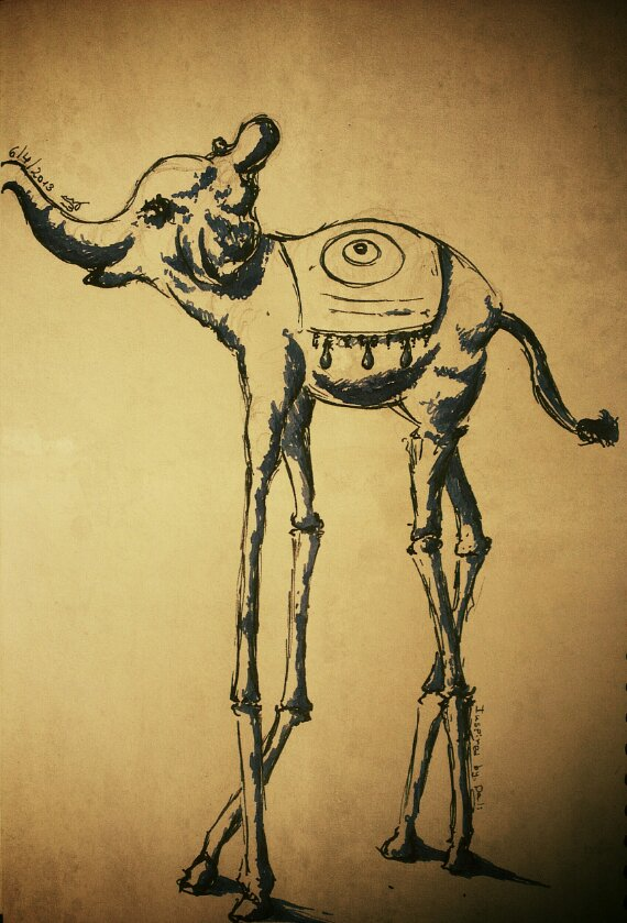 Dali elephant statue