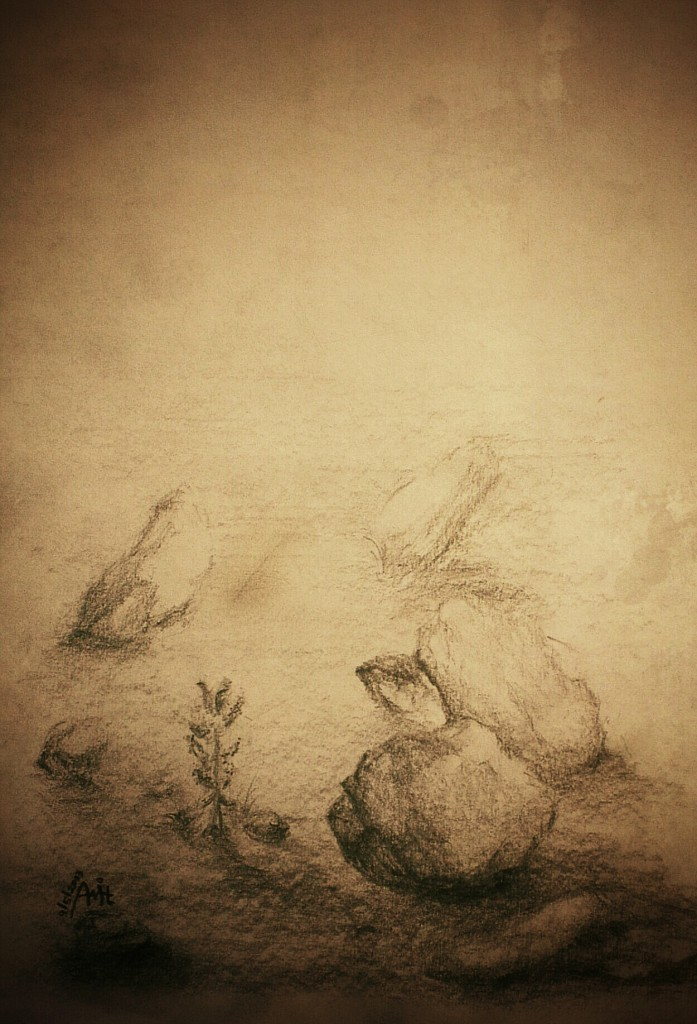 drawing rocks