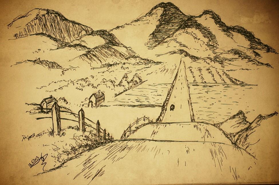 landscape drawing 0.4 pilot pen