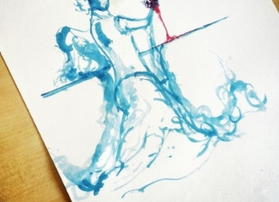 Watercolor Pose Painting