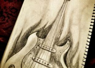 Guitar drawing
