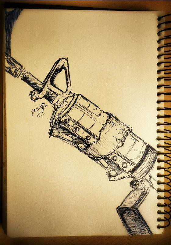 m-16 drawing