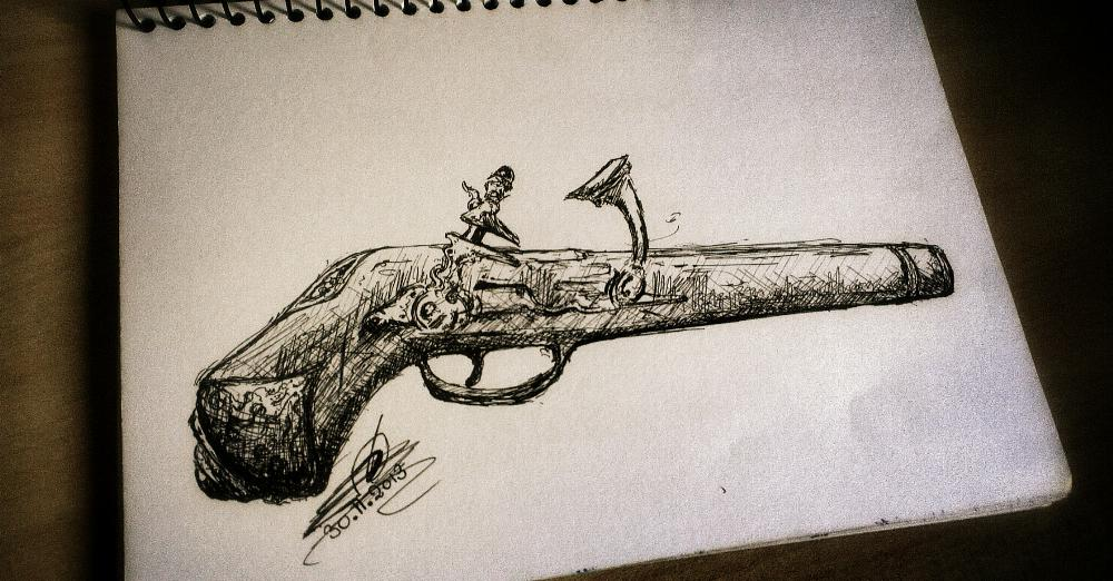 old_gun_drawing