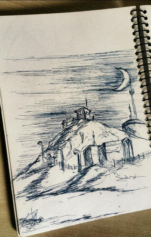 watchtower drawing