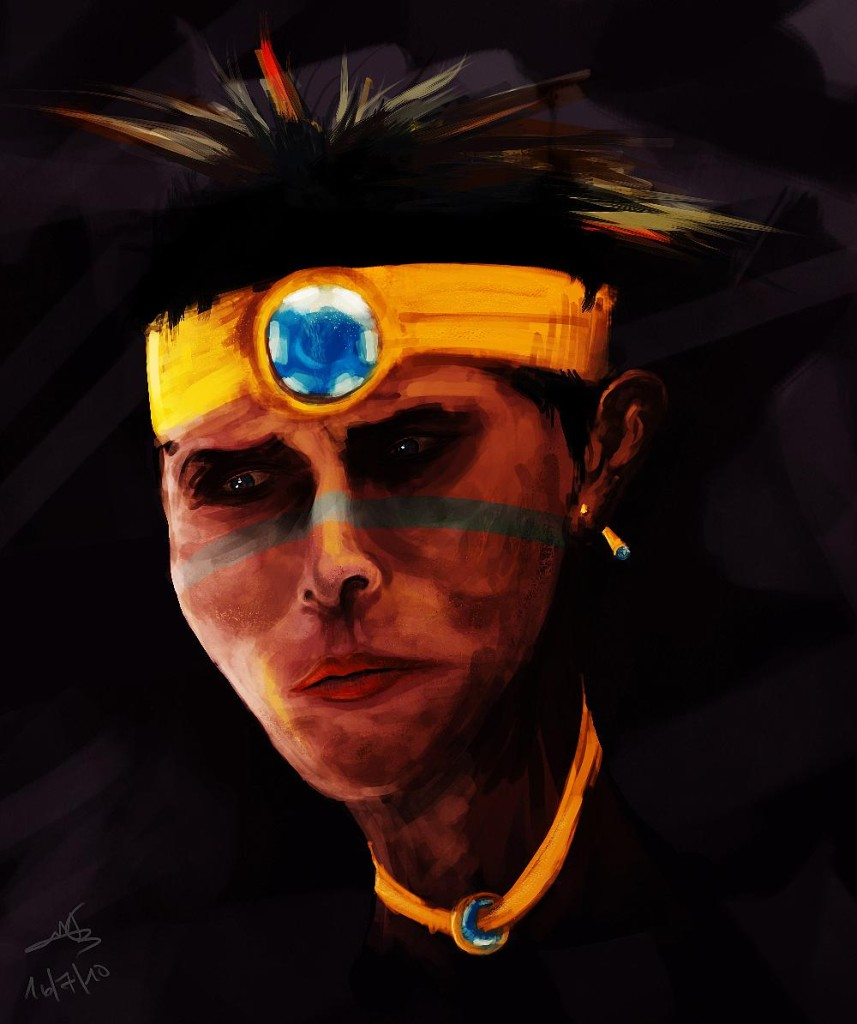 indain portrait digital painting