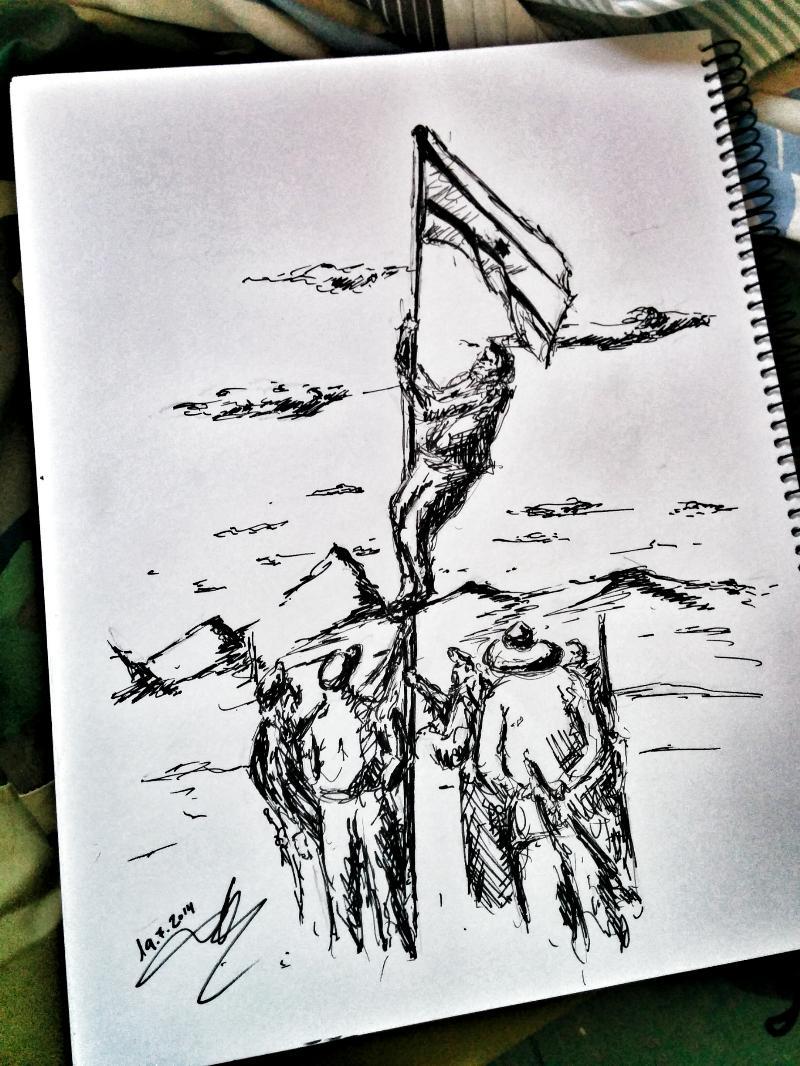 israel_flag_drawing_rapidograph