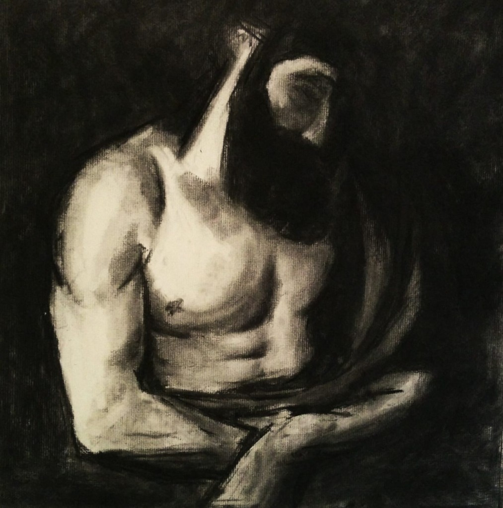 drawing body poses charcoal