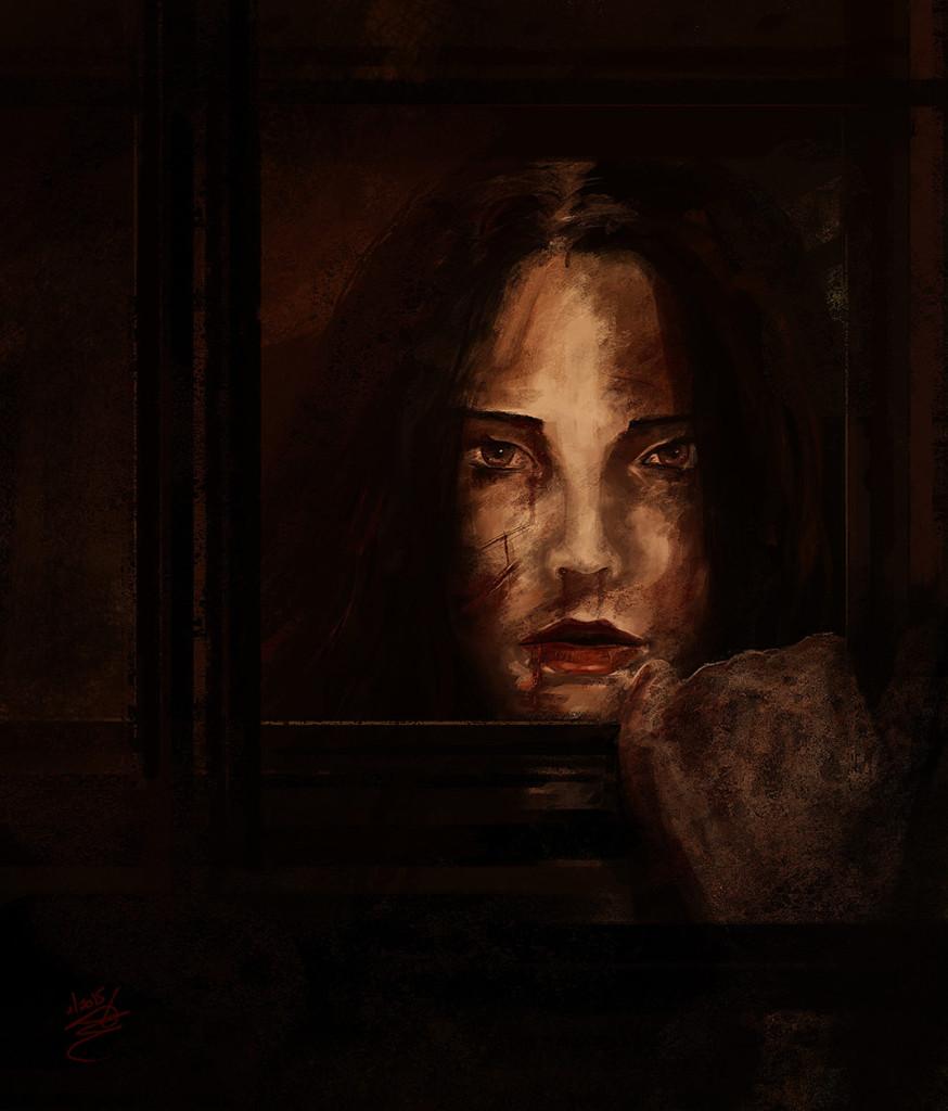 female portrait digital painting