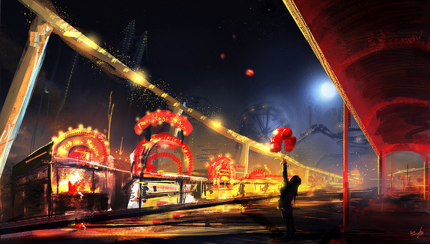 amusement_park_digital_painting