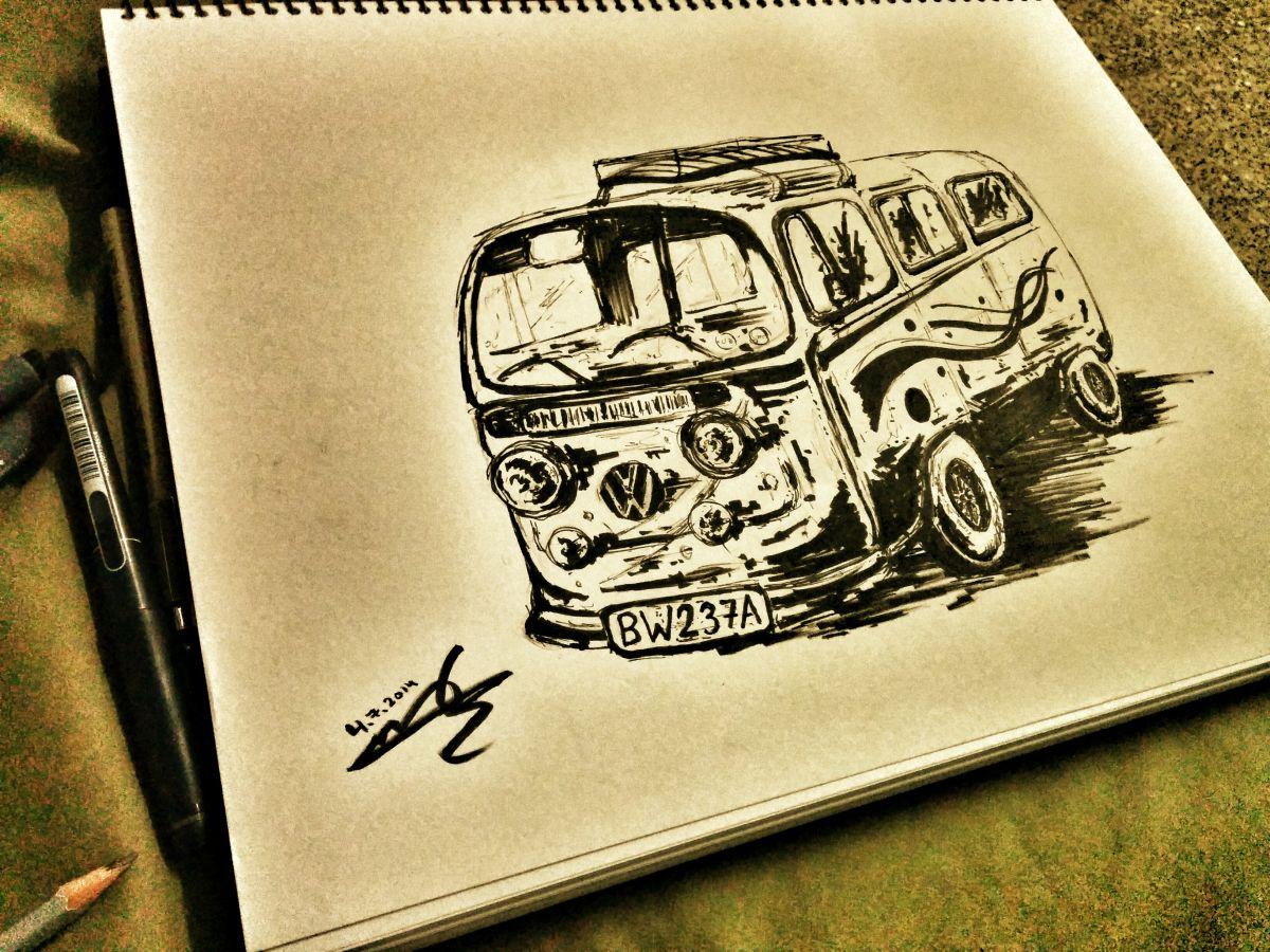 van_car_drawing