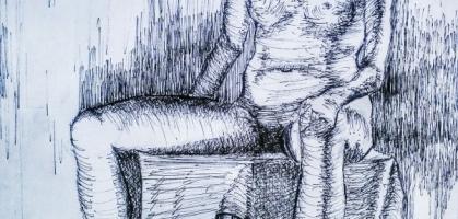 Nude Pen Drawing