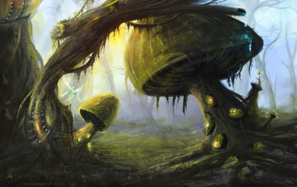 fairies drive in digital painting