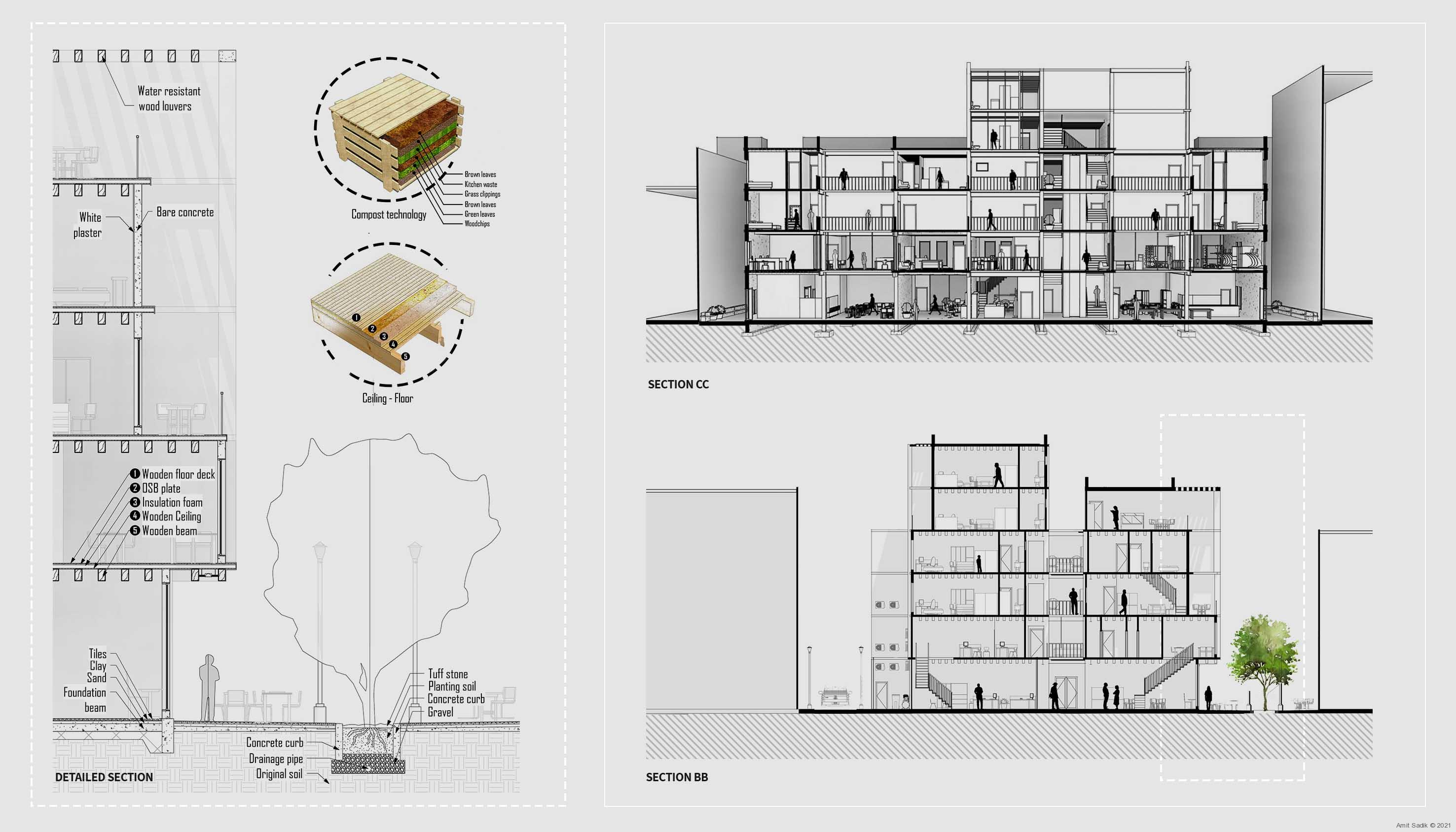 Shophouse 2.0 section, detailed section